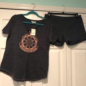 LUCKY BRAND - navy pajama set